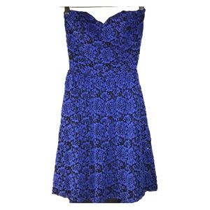 Lovely Day Floral Strapless Open Back Dress S